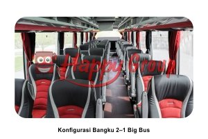 Konfigurasi Bangku Big Bus 2–1