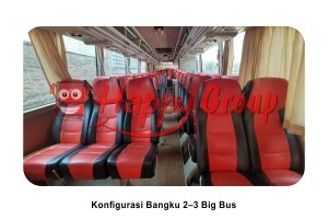 Konfigurasi Bangku Big Bus 2–3