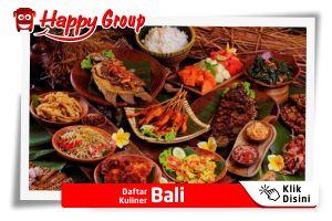 Daftar Kuliner Bali